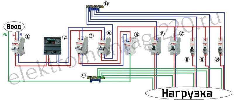 Схема монтажа устройства